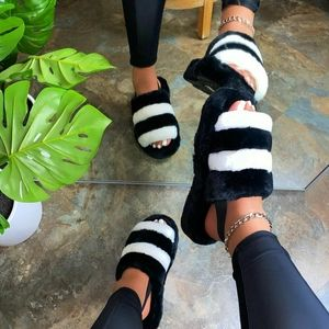 Shoes - 🆕️//The Cozy Collection// Black Fur slides